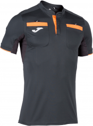 Футболка судейская JOMA CAMISETA REFEREE ANTRACITA M/C